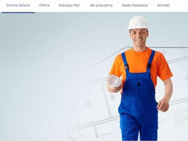 Responsywna strona ekipy remontowej