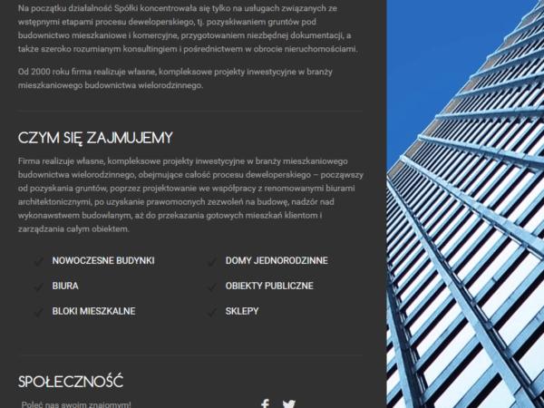 Responsywna strona firmy architektonicznej
