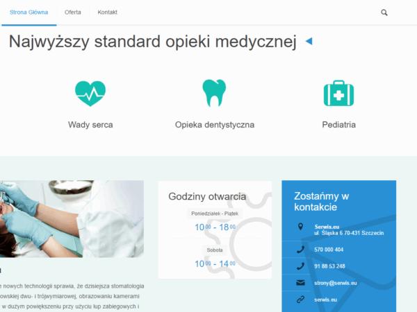 Responsywna strona gabinetu lekarskiego
