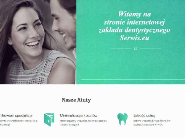 Responsywna strona gabinetu stomatologicznego