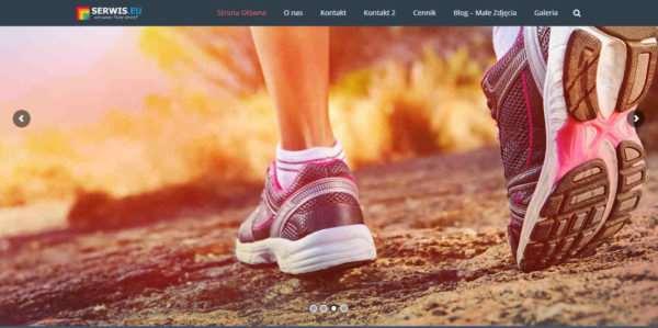 Strona internetowa siłowni i klubu fitnes
