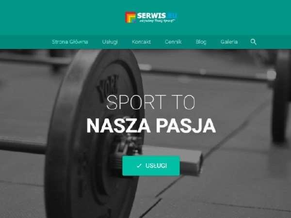 Nowoczesna strona siłowni i klubu fitness