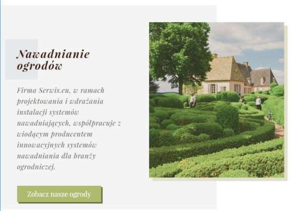 Responsywna strona firmy projektującej ogrody