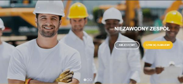 Przykładowa strona internetowa firmy budowlanej